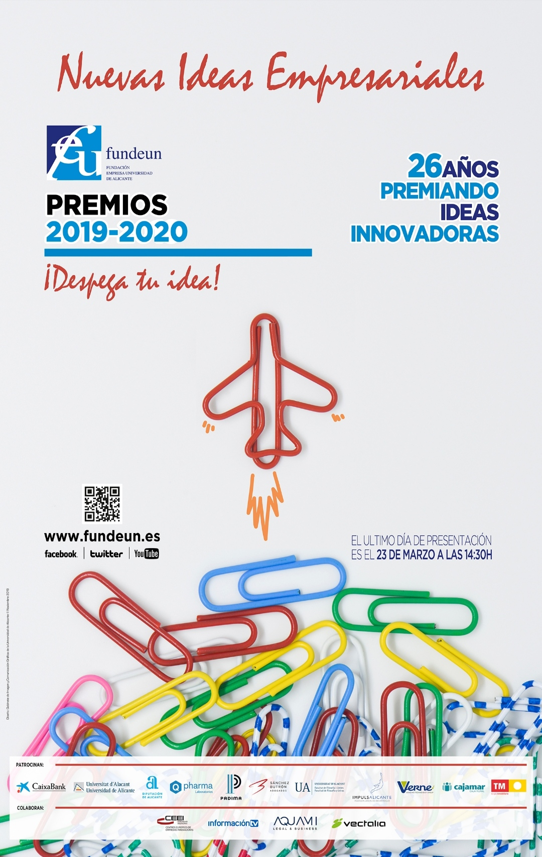 cartel premios XXVI Edición nuevas ideas empresariales FUNDEUN